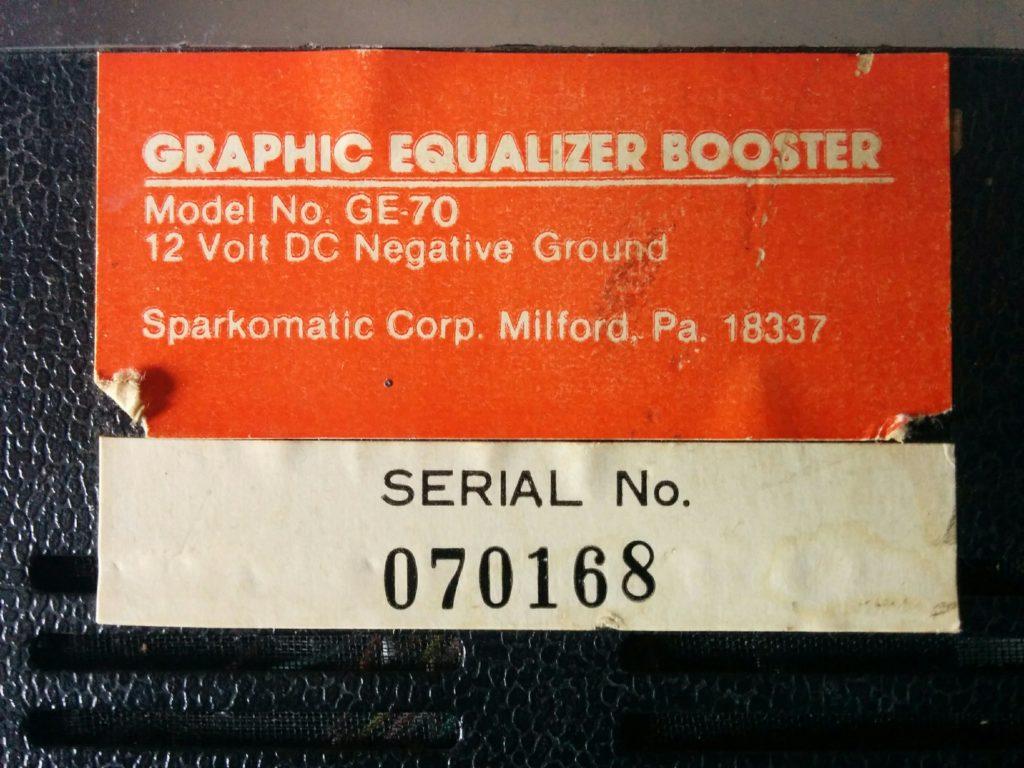 Equalizzatore / Booster Sparkomatic GE-70