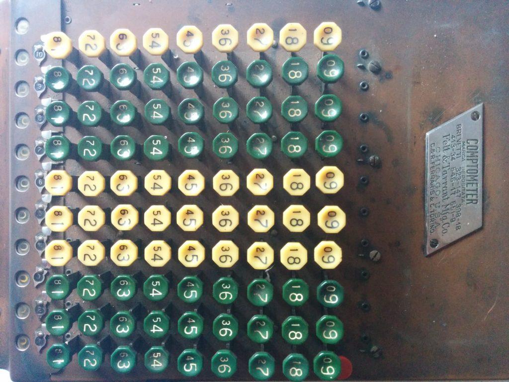 Calcolatrice Meccanica Comptometer Model J