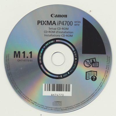 Canon Pixma iP4700 Setup CD-ROM M1.1