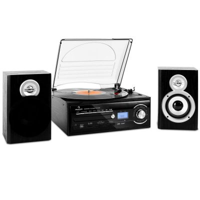 Auna TT-190 Impianto Stereo Giradischi MP3 CD e Cassette