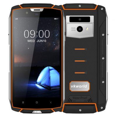 """Smartphone VK7000, Certificato IP68, Schermo 5.2"""", Octa Core Android 8.0 - Orange"""