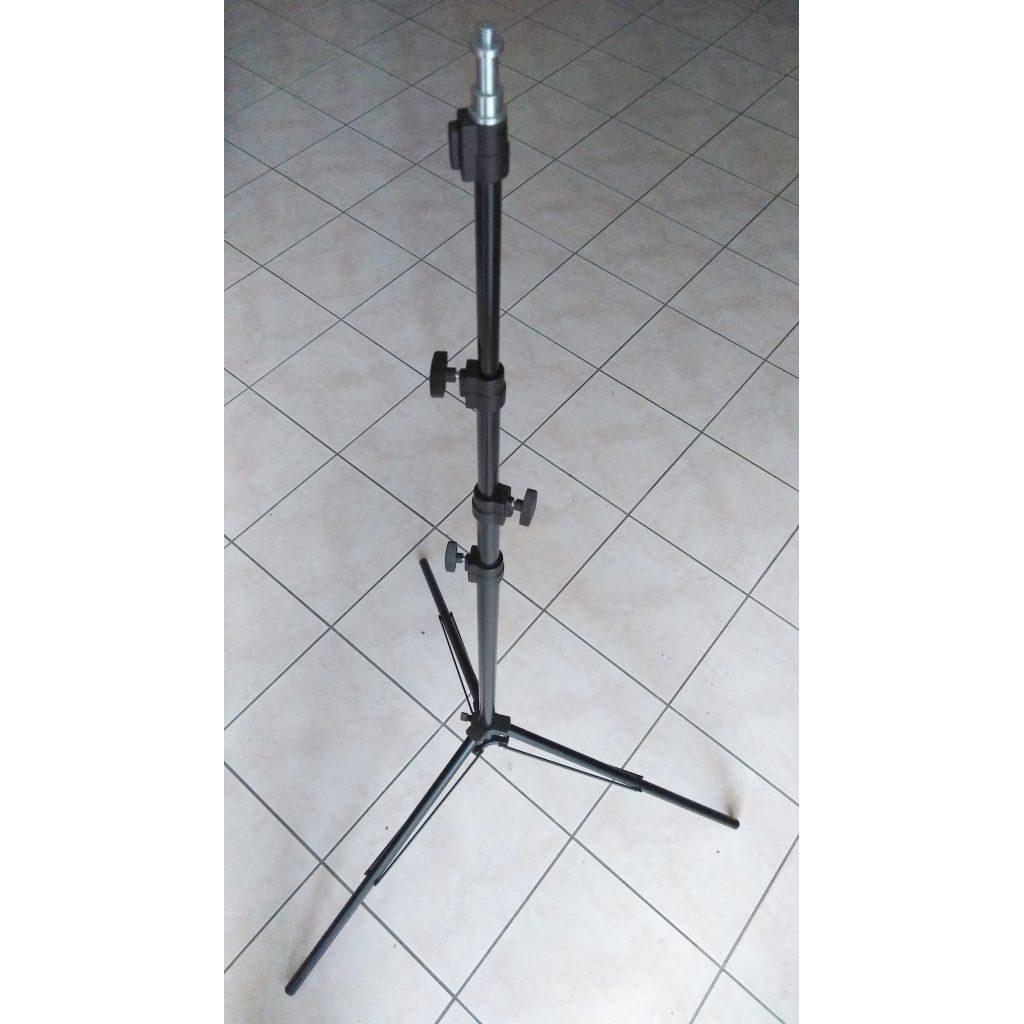 2 Stativi professionali compatti per lampade (Nero)