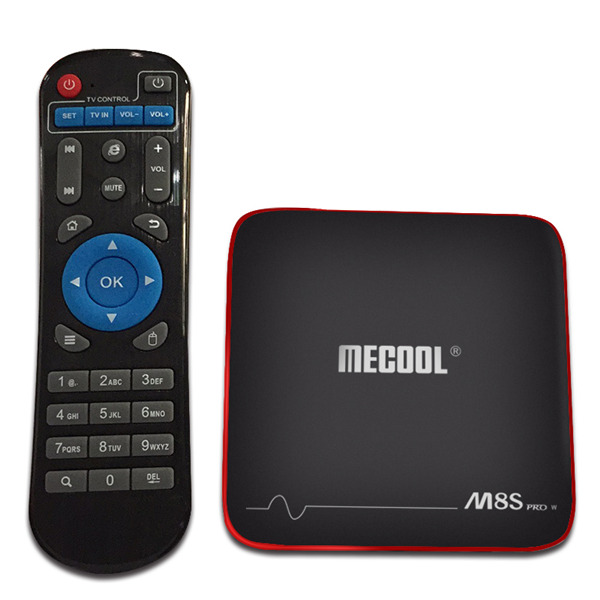 TV Box Android TV - Mecool M8S Pro W, Full-4K, CPU Quad Core, HDMI