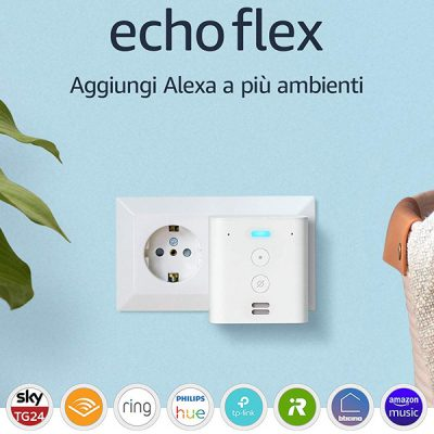 Echo Flex - Altoparlante intelligente con spina integrata e Alexa