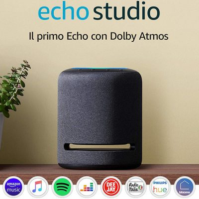 Echo Studio - Altoparlante intelligente con audio Hi-Fi e Alexa