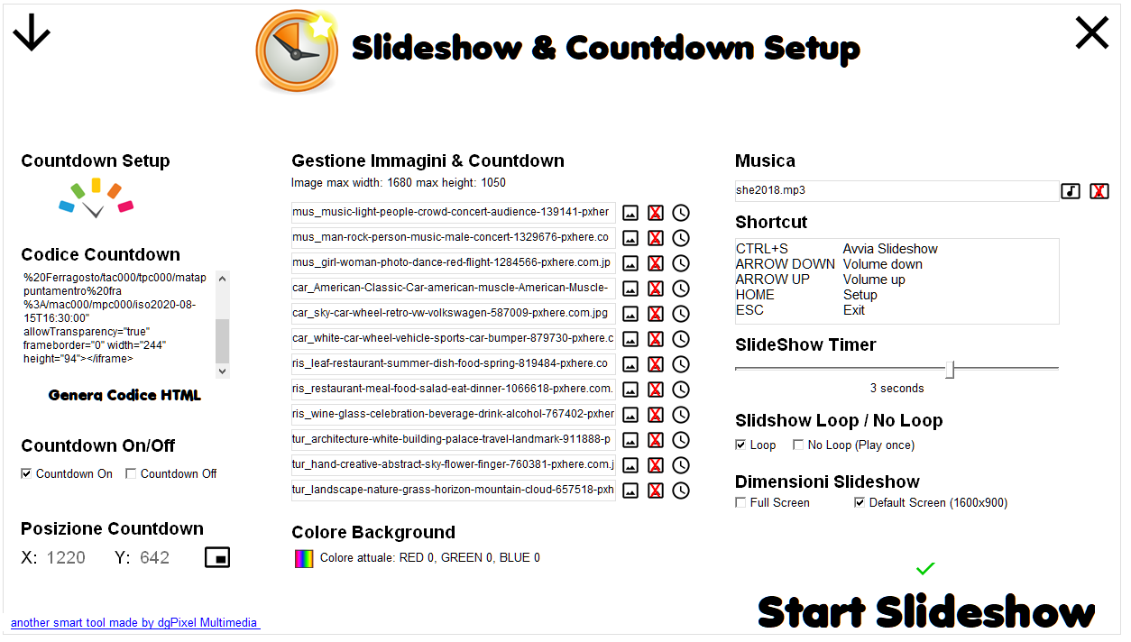 Slideshow & Countdown