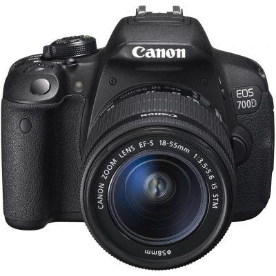 Canon EOS 700D + EF-S 18-55mm 18MP CMOS 5184 x 3456 Pixels Nero (Ricondizionato)