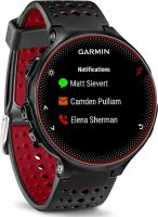 Garmin Forerunner 235 GPS Sportwatch con Sensore Cardio al Polso e Funzioni Smart, Nero/Rosso (Ricondizionato)