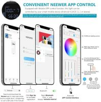 Neewer RGB Luce 530 LED SMD Controllo via App, CRI 95, 3200-5600K, Luminosità 0% - 100%, 0-360 Colori Regolabili, 9 Condizioni Applicabili, con LCD Display, Staffa-U, Barndoor, Guscio in Metallo