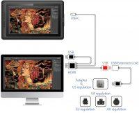 """XP-Pen Artist 15.6 Tavoletta Grafica 15.6"""" Full HD 8192 con Livelli di Pressione"""