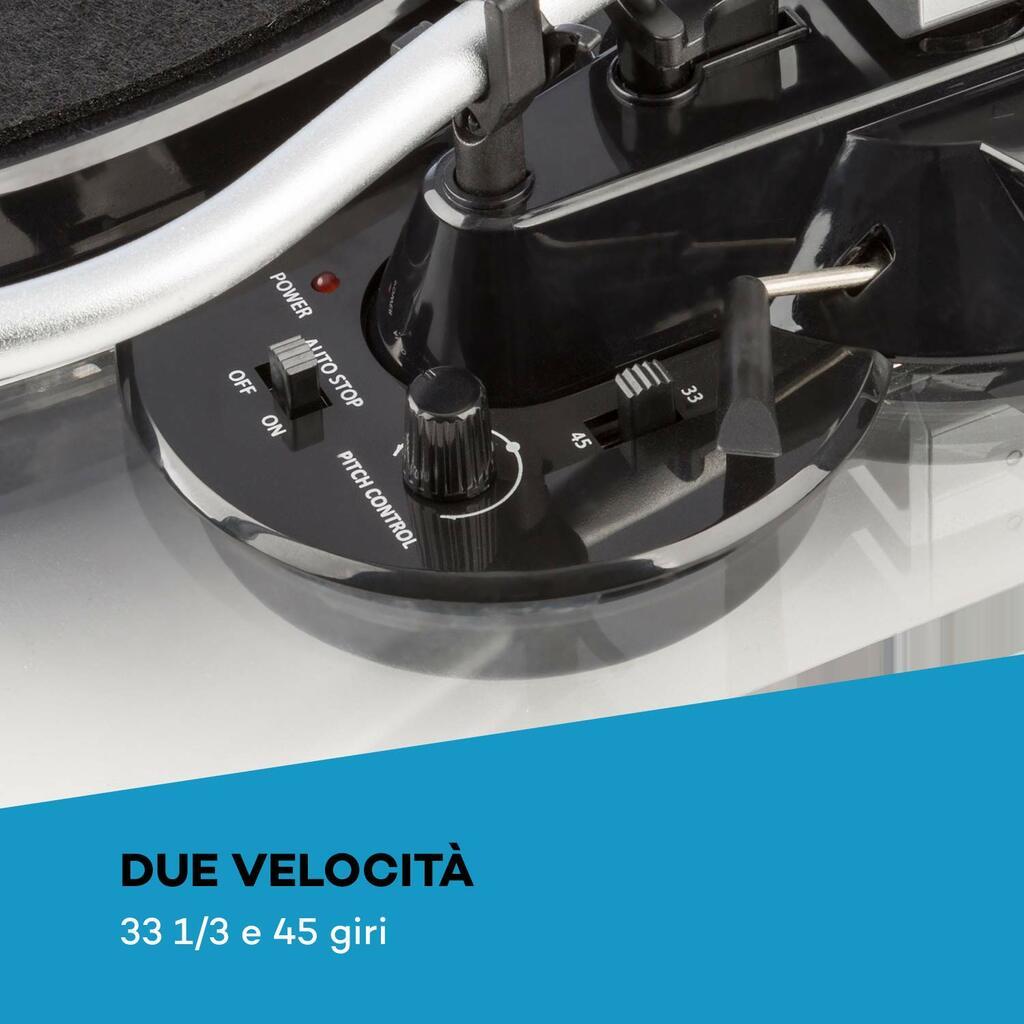 Con il Giradischi Auna TT-Pure registri i vinili direttamente su computer