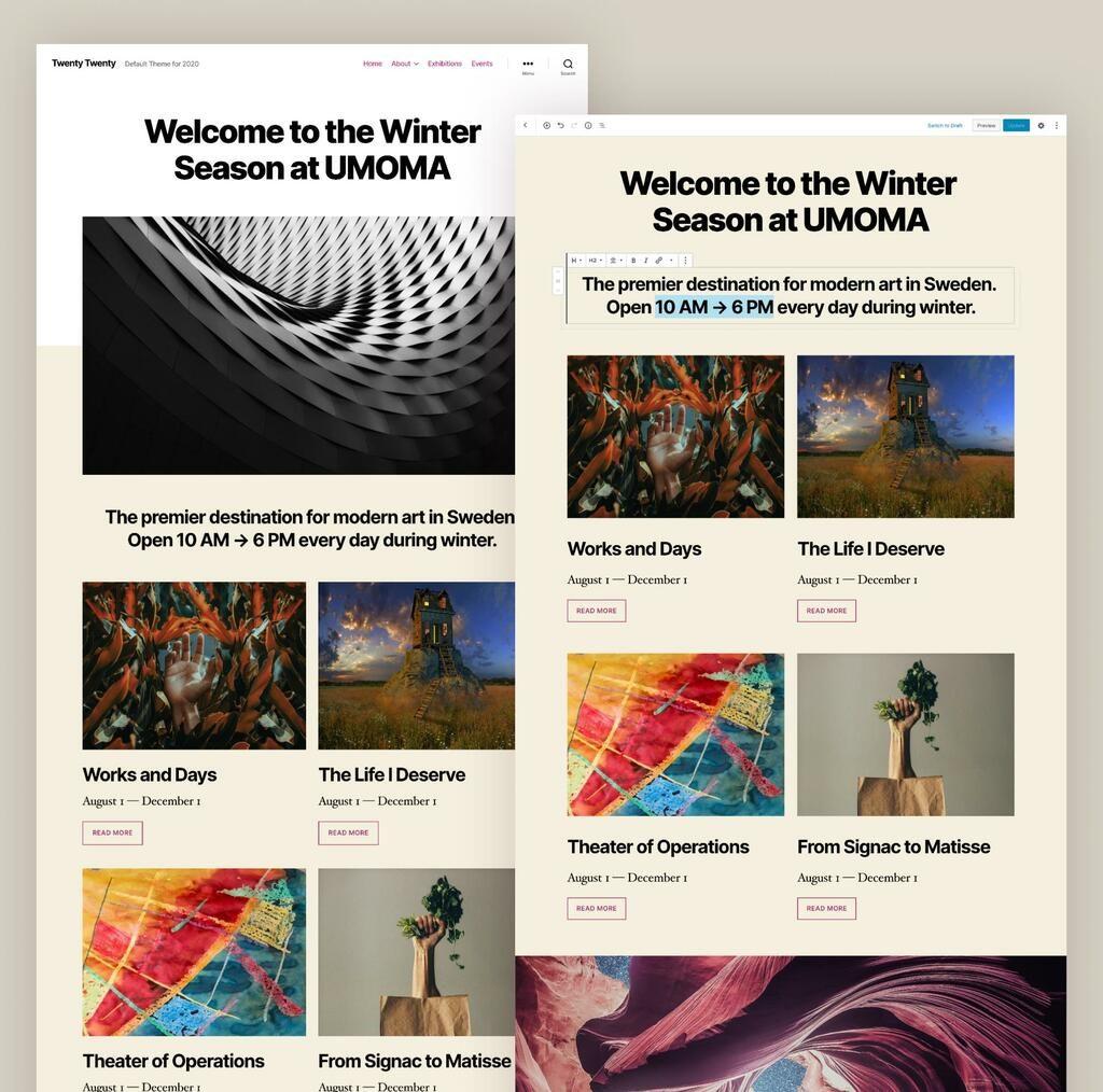 WordPress 5.3: creare layout avanzati non è mai stato così semplice!