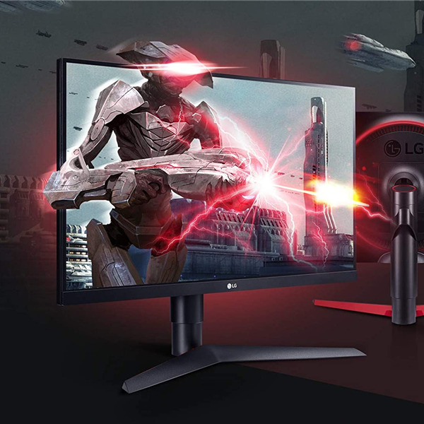"Gaming Monitor LG 27GL650 UltraGear, 27"" Full HD, 1920x1080, G-Sync, HDMI 2.0, Uscita Audio, Stand Pivot, Flicker Safe, Nero"